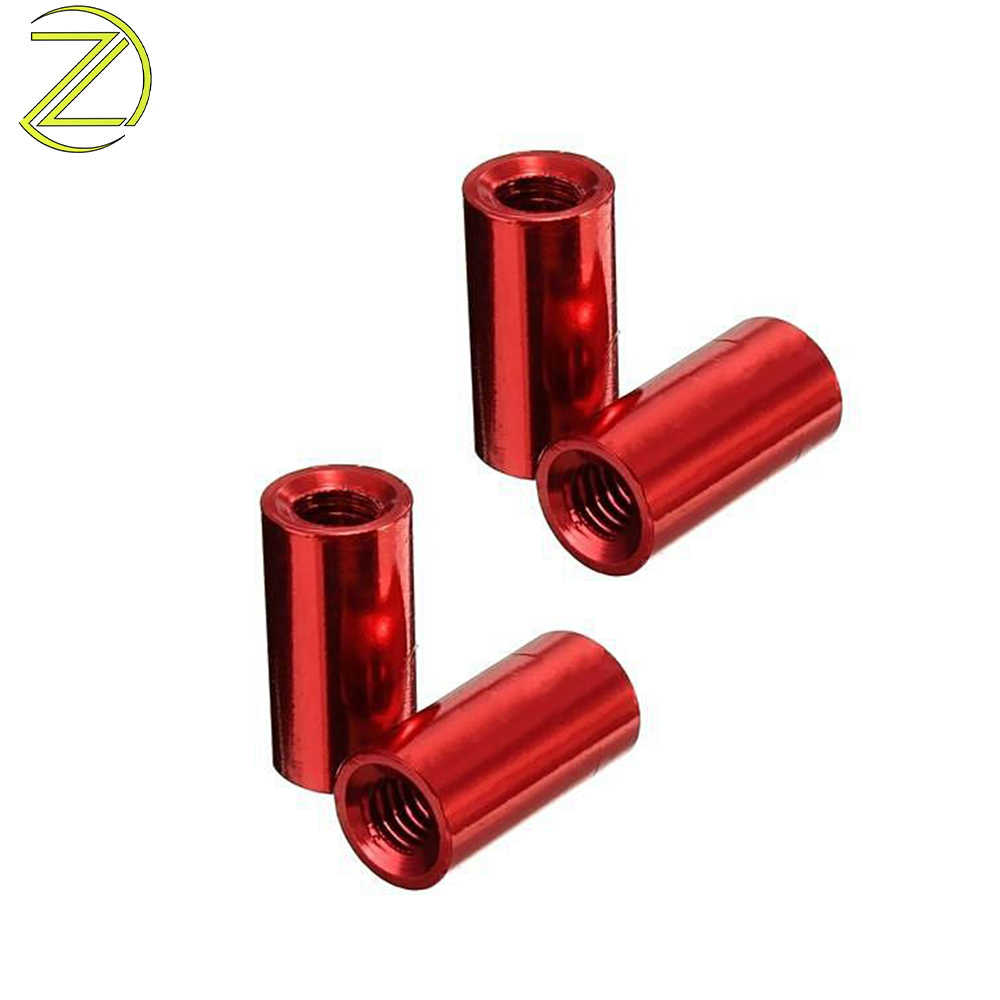 Custom Red Anodized Standoff Spacers